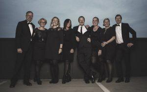 Fra venstre: Peter, Kirsten, Gitte, Malene, Arne, Gudrun, Marianne og Niels